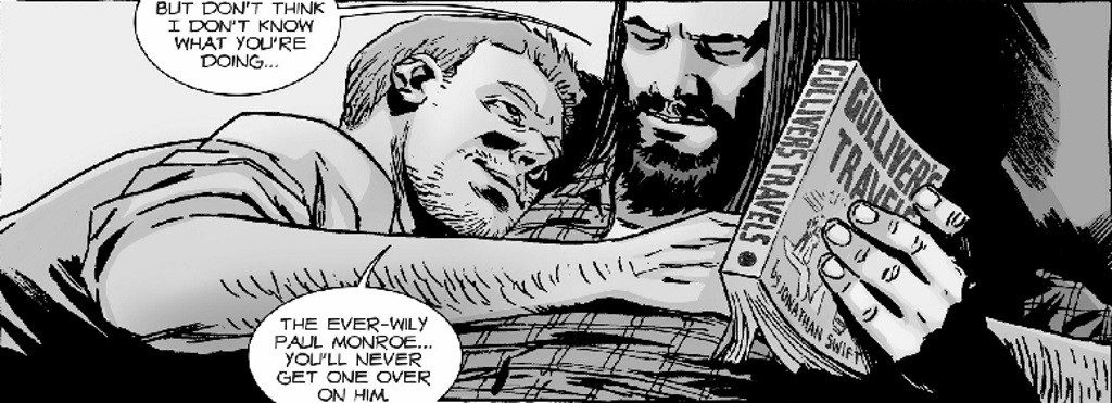 Jesus cuddles with another man in The Walking Dead comic