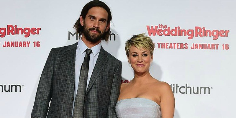 Kaley Cuoco and Ryan Sweeting at the premiere of The Wedding Ringer