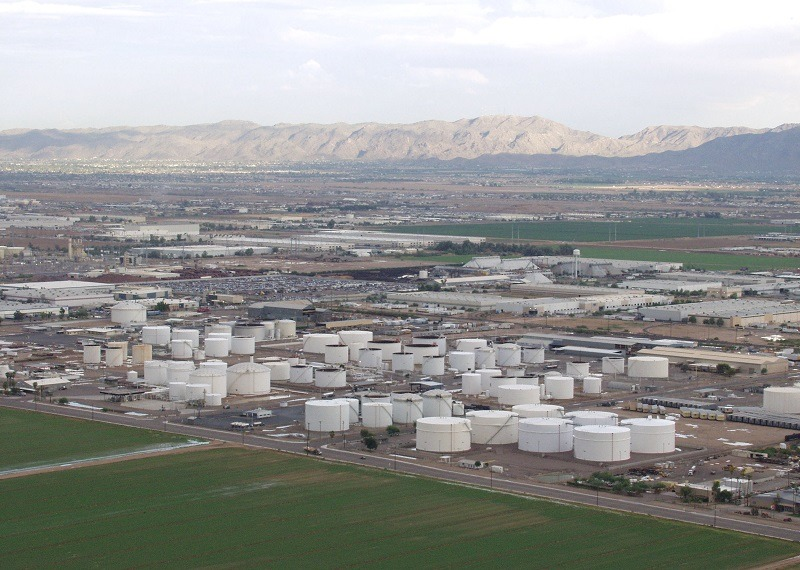 A Kinder-Morgan tank farm in Phoenix