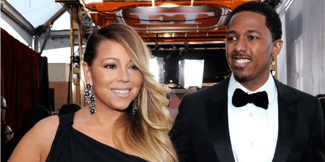 Mariah Carey and Nick Cannon at the 20th Annual Screen Actors Guild Awards