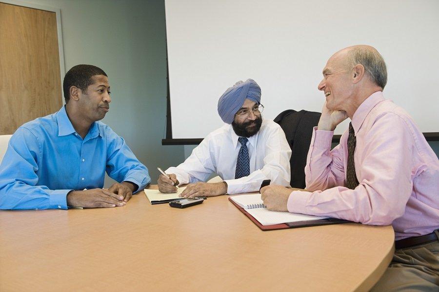 Multiethnic group of businesspeople