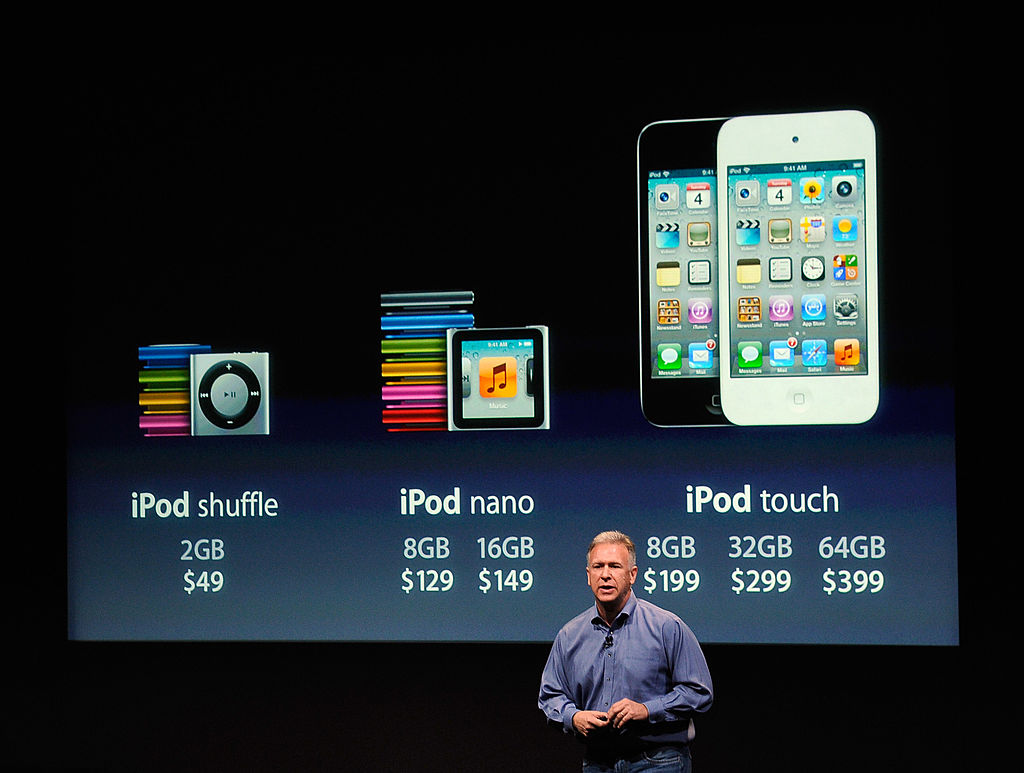 Phil Schiller speaks about prices of the iPod Nano and iPod touch