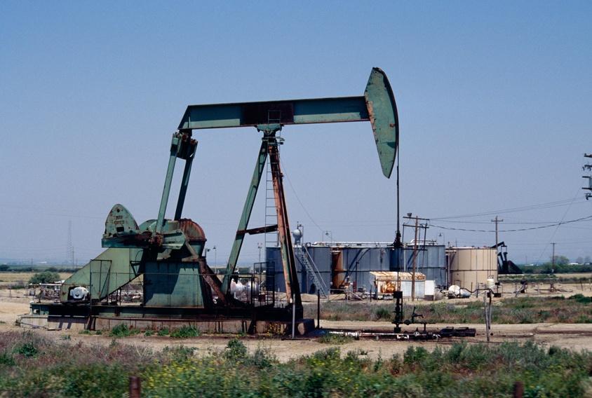 Oil pump in California