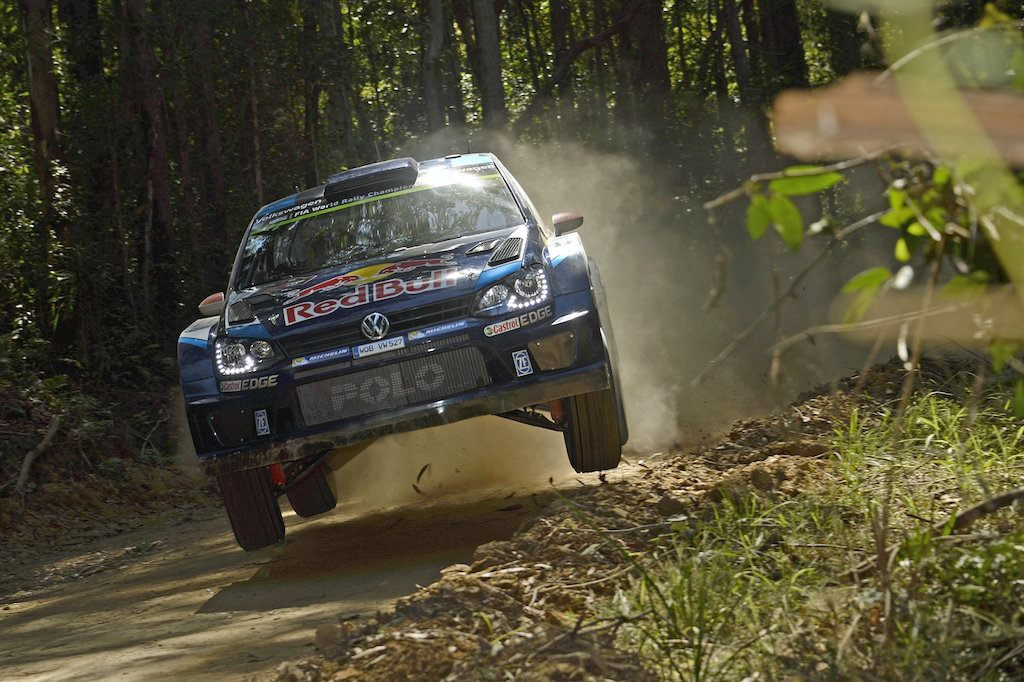 Jari-Matti Latvala performs during the FIA World Rally Championship 2015 in Coffs Harbour, Australia on September 13, 2015 // Volkswagen Motorsport/Red Bull Content Pool // P-20150914-00563 // Usage for editorial use only // Please go to www.redbullcontentpool.com for further information. //