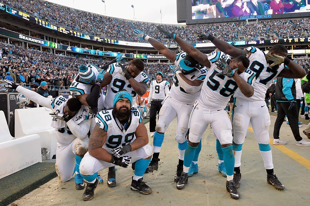 Carolina Panthers dabbing
