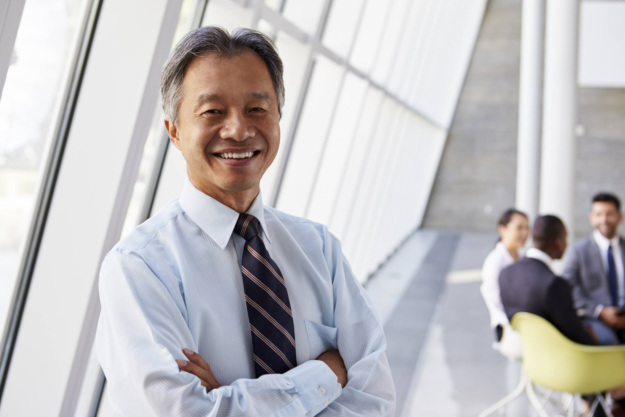 Asian Businessman Smiling