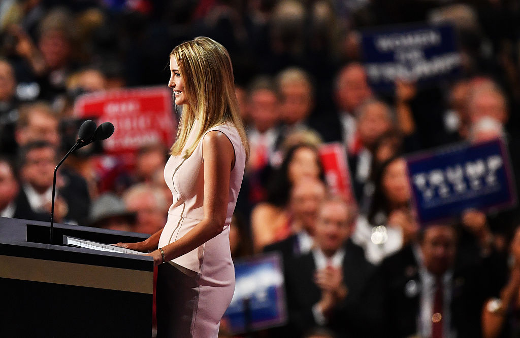 Ivanka Trump at the Republican National Convention on July 21, 2016