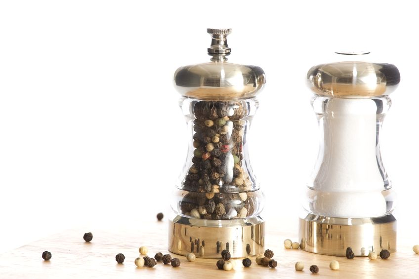 salt shaker and pepper mill