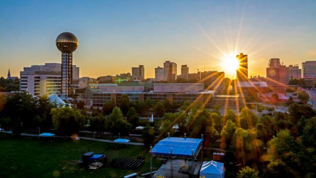 Sunrise in Knoxville, Tennessee
