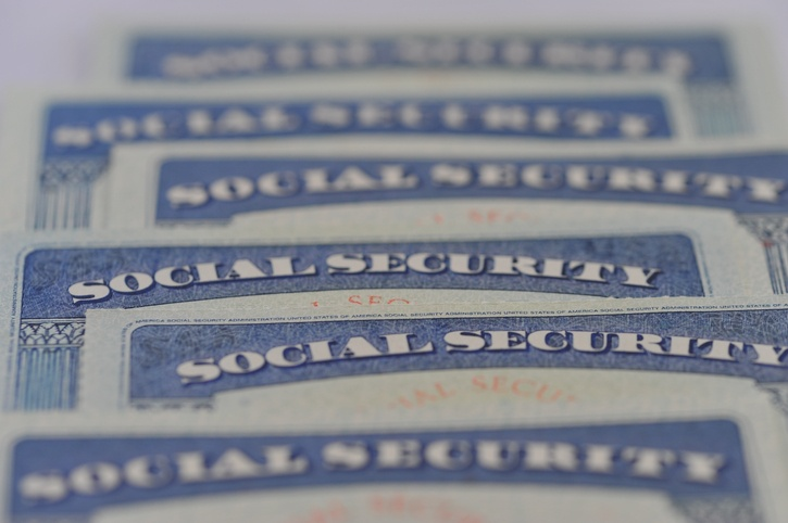 Stck of Social Security cards