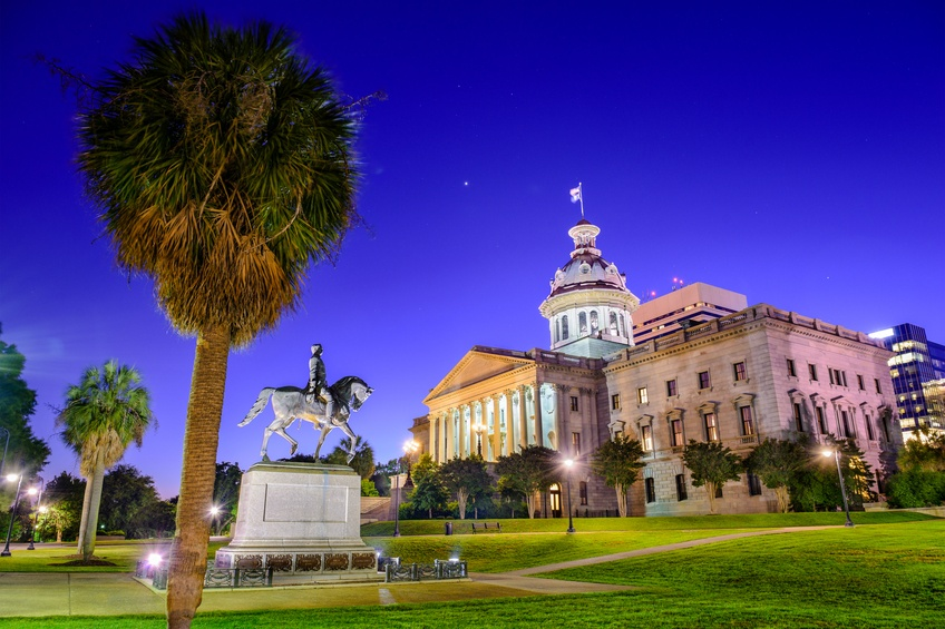 Captiol building in Columbia, South Carolina