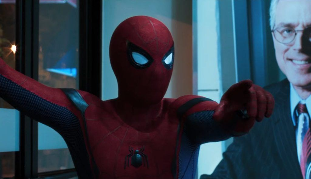 Tom Holland plays Spider-Man in Spider-Man: Homecoming