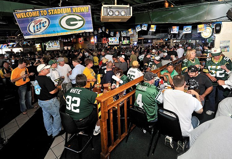 Stadium view bar in Green Bay