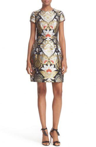 Ted Baker London Imoen Opulent Orient Jacquard Fit & Flare Dress
