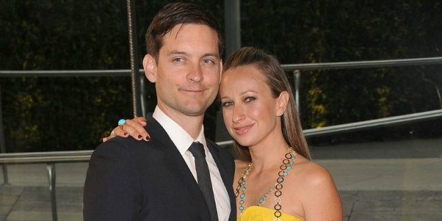 Actor Tobey Maguire and his wife Jennifer Meyer attend the 2013 CFDA Fashion Awards.