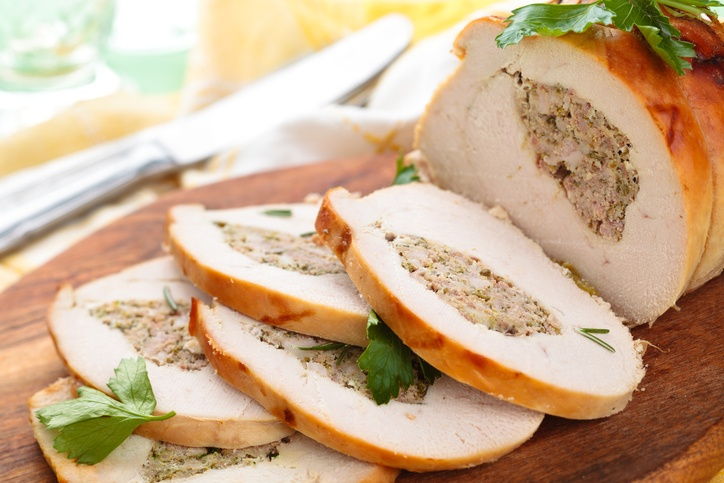 turkey breast with parsley