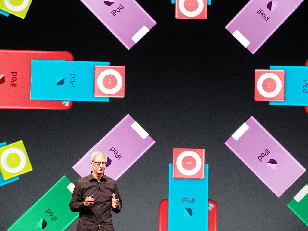 Apple's CEO Tim Cook presents the new iPod Nano