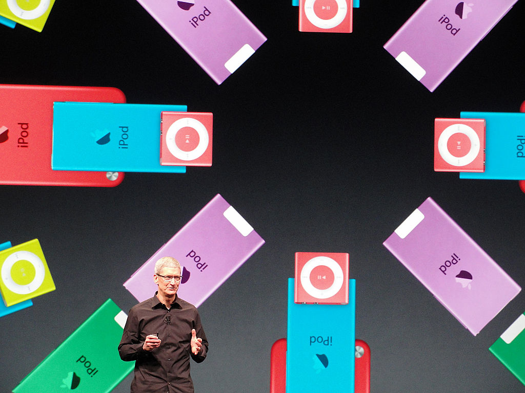 Apple's CEO Tim Cook presents the new iPod Nano