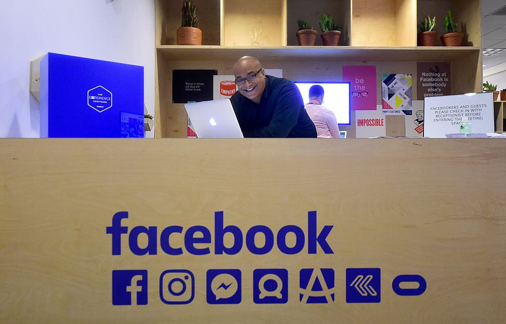 Leo Olebe, the Director of Global Games Partnerships at Facebook poses at the Los Angeles Convention Center