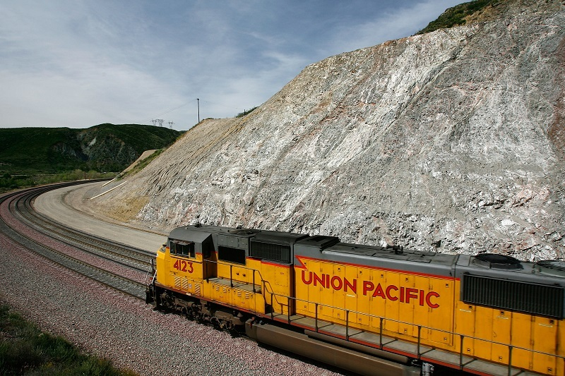 A Union Pacific freight train