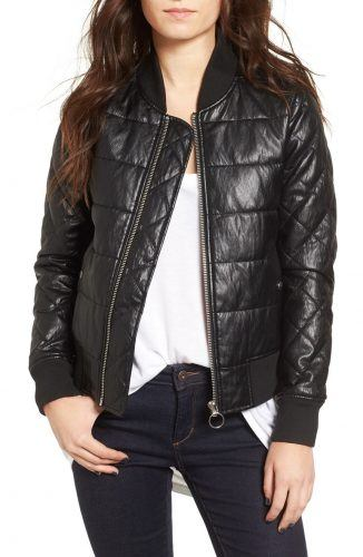 Vigoss Quilted faux leather bomber