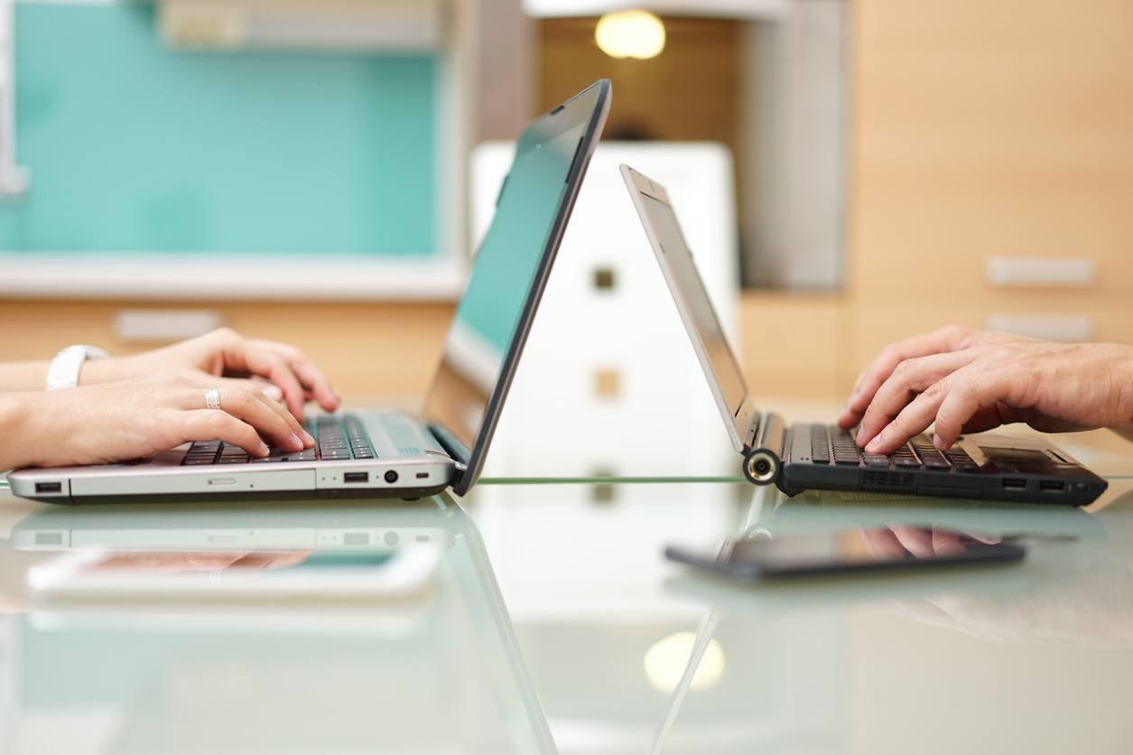 people on computers