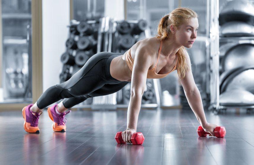 Woman push-ups