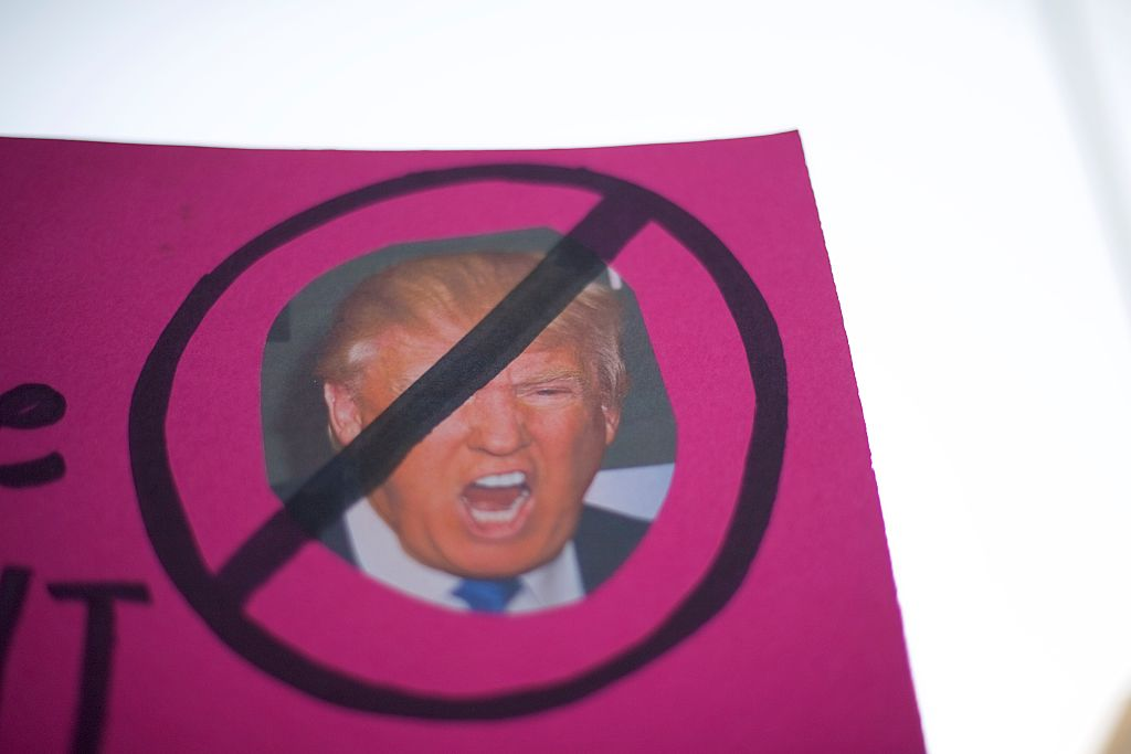 anti-trump sign