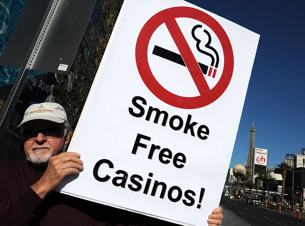 casino smoking protest