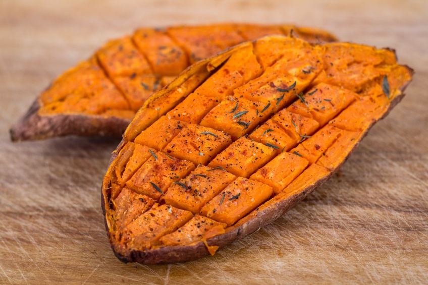 baked sweet potato with spices
