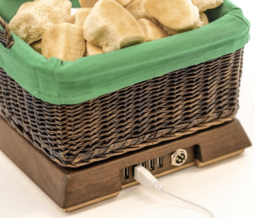 Sister Schubert's USB-enabled Basket of Warmth