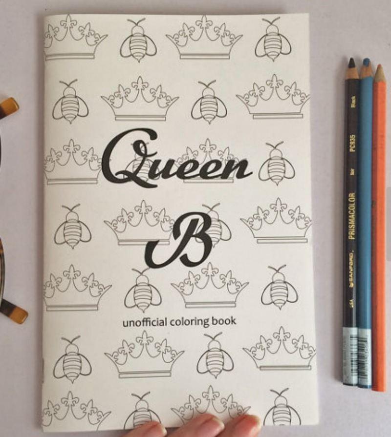 Queeb B coloring book