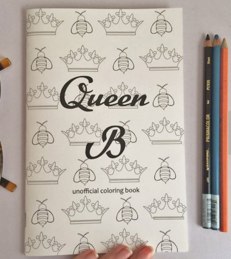 Queeb B coloring book