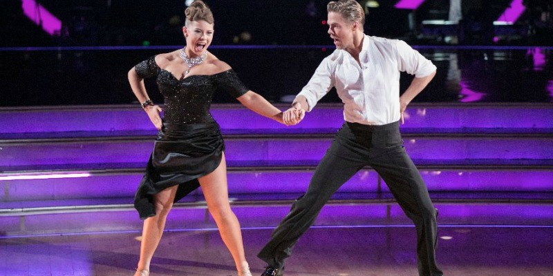 Bindi Irwin and Derek Hough on Dancing With the Stars