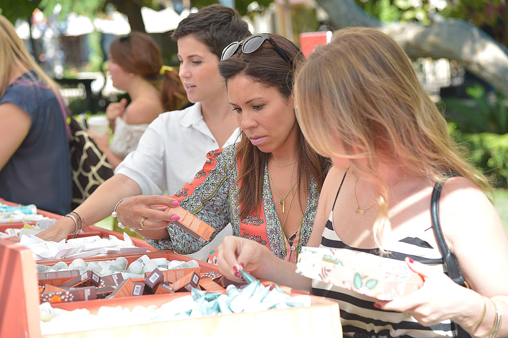 women look for birchbox samples