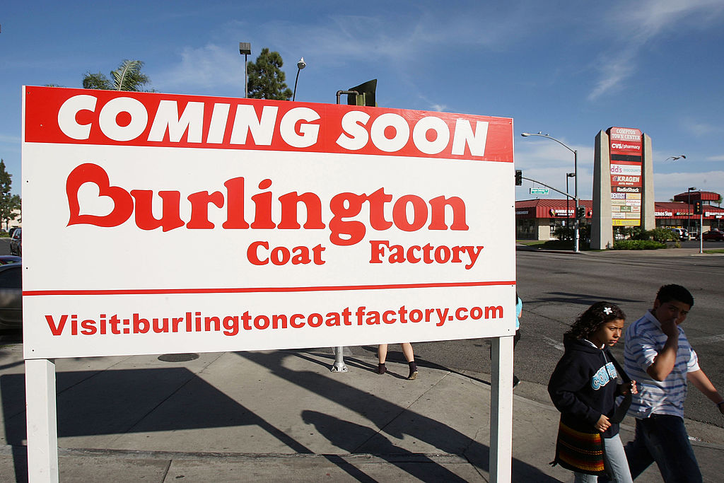 burlington coat factory sign