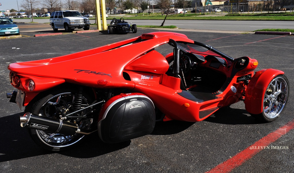 The Campagna T-Rex 16S parked in a parking lot