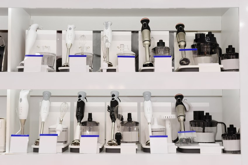 row of cooking immersion blenders