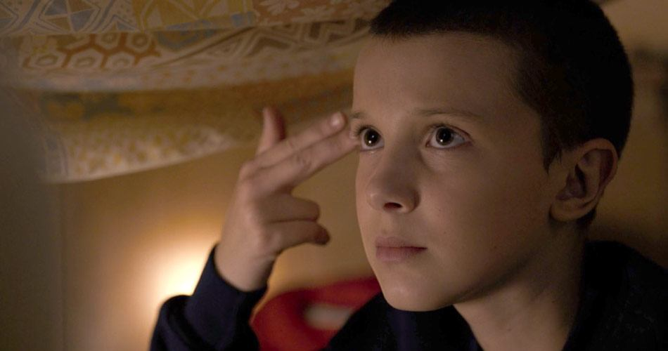Millie Bobby Brown as Eleven in Stranger Things