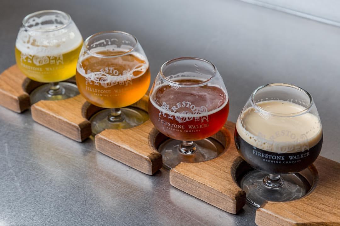 sampling of beer from Firestone Walker Brewing Co.