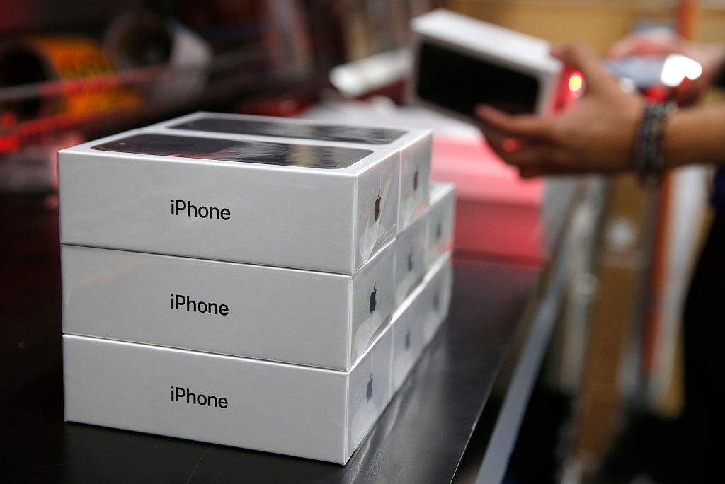 iPhones in boxes