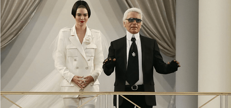 Kendall Jenner and Karl Lagerfeld