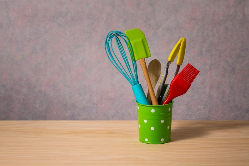 colourful kitchen utensils
