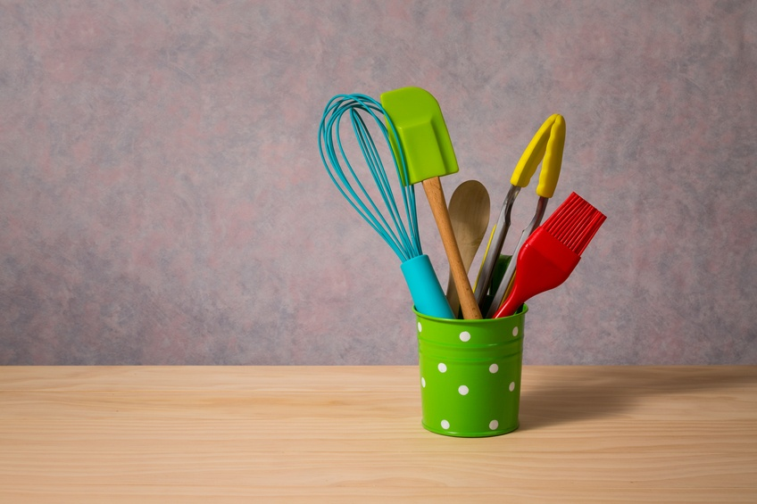 colourful kitchen utensils