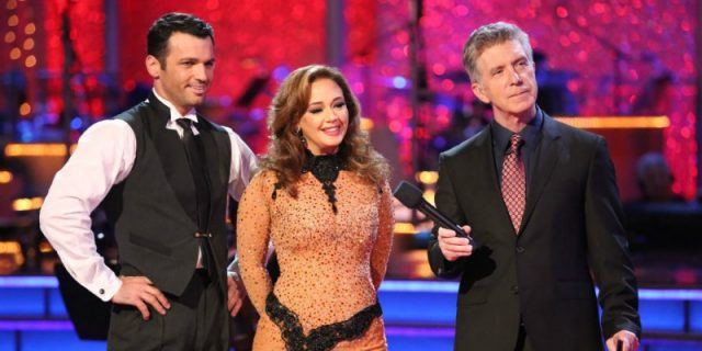 Leah Remini and Maksim Chmerkovskiy on 'Dancing with the Stars'.
