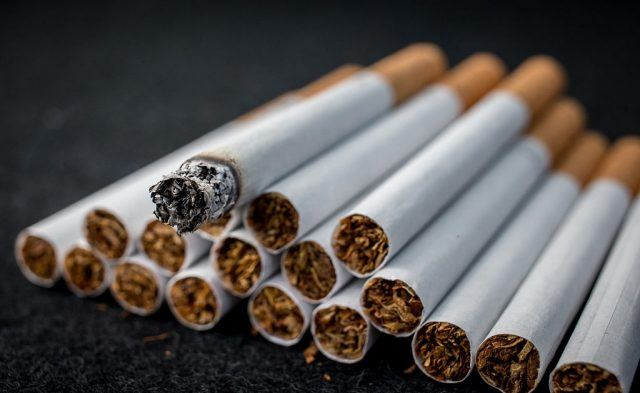 A close-up view of loose cigarettes
