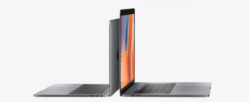 MacBook Pro with Touch Bar from the side