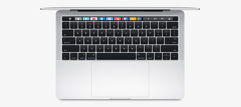 MacBook Pro with Touch Bar from above