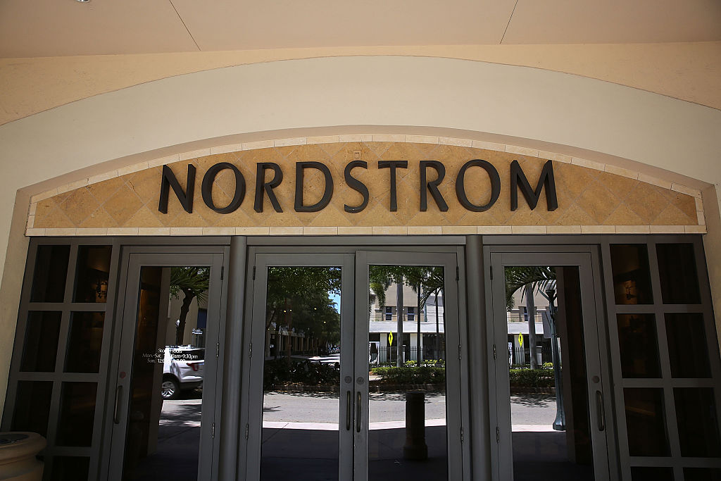 nordstrom sign on a storefront