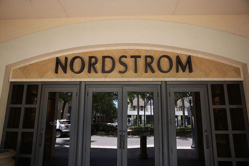 Nordstrom sign on a storefront